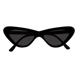 Diseño plano de gafas de sol de mariposa