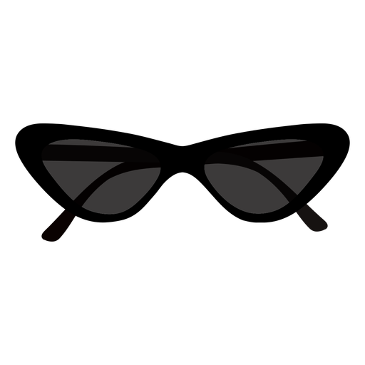 Butterfly sunglasses flat design