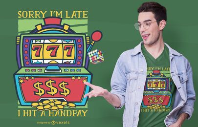 Design de t-shirt de slot machine handpay