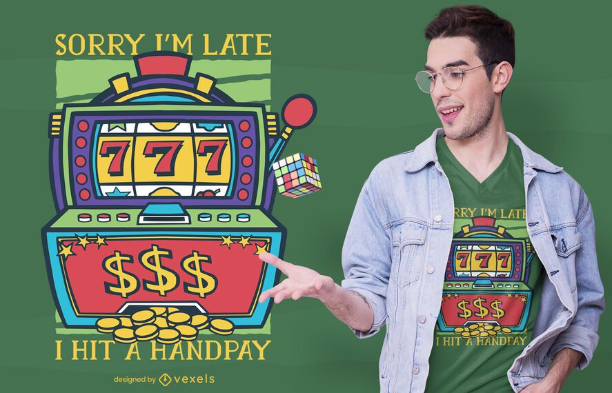 Design de t-shirt de slot machine handpay