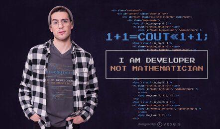 Diseño de camiseta de cita de desarrollador