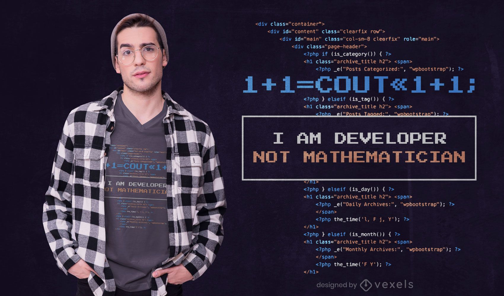 Developer quote t-shirt design