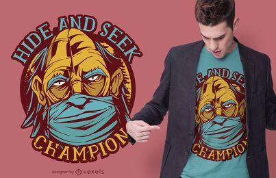Design de camiseta com máscara facial Bigfoot