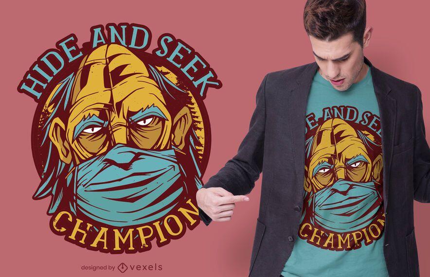 Design de t-shirt de máscara de bigfoot