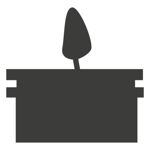 Candle container silhouette Transparent PNG
