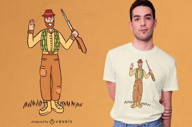 Design de t-shirt de caçador amigável