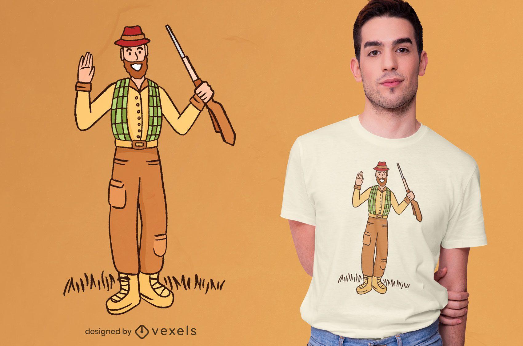 Friendly hunter t-shirt design