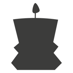 Candle decorative container silhouette