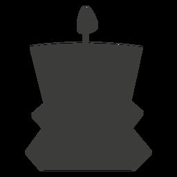 Vela decorativa contenedor silueta