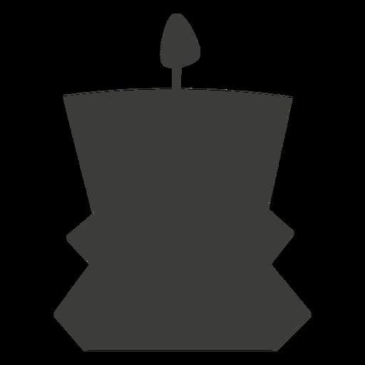 Vela contenedor decorativo silueta