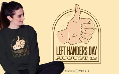 Left handers day t-shirt design