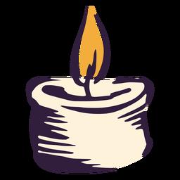 Diseño de ilustración de luz de vela