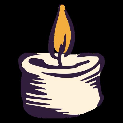 Candle light illustration design Transparent PNG