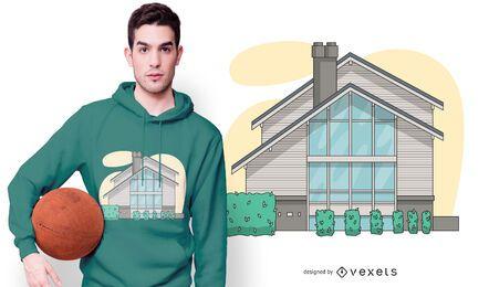 Modernes Verbindungshaus-T-Shirt-Design