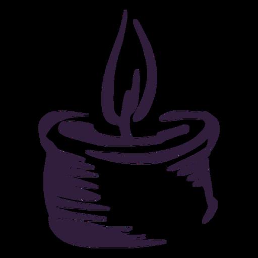 Candle light stroke design
