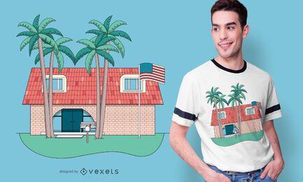 Tropisches Verbindungshaus-T-Shirt Design