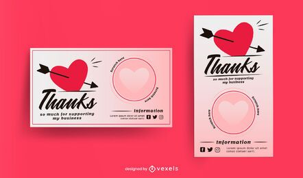 Heart scratch card template