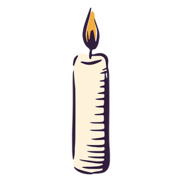 Candlestick burning illustration