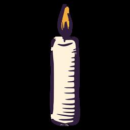 Castiçal queima ilustração