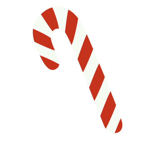 Candy cane christmas food flat Transparent PNG