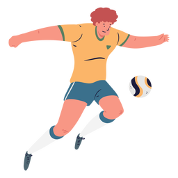Jugador de fútbol masculino de dibujos animados