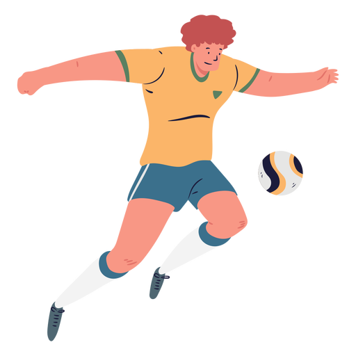 Cartoon male soccer player Transparent PNG