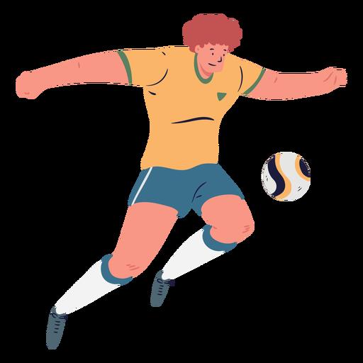 Cartoon male soccer player