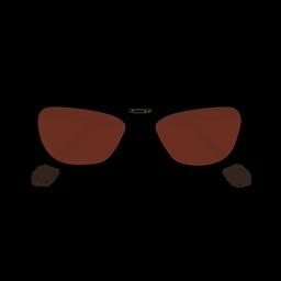 Gafas de sol planas con forma de ojo de gato