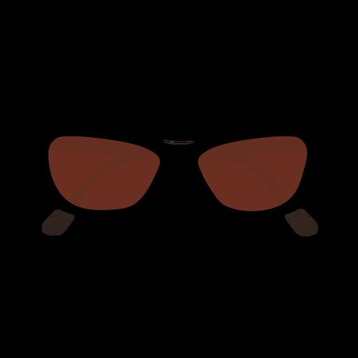 Cat eye shaped sunglasses flat