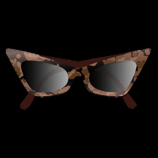 Cat eye fashionable sunglasses glossy
