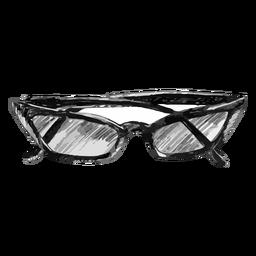 Bosquejo de gafas en forma de ojo de gato