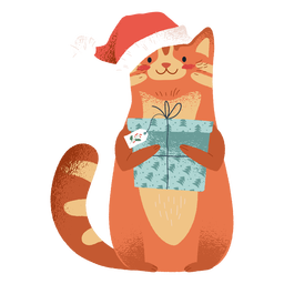 Cat wearing christmas elements illustration
