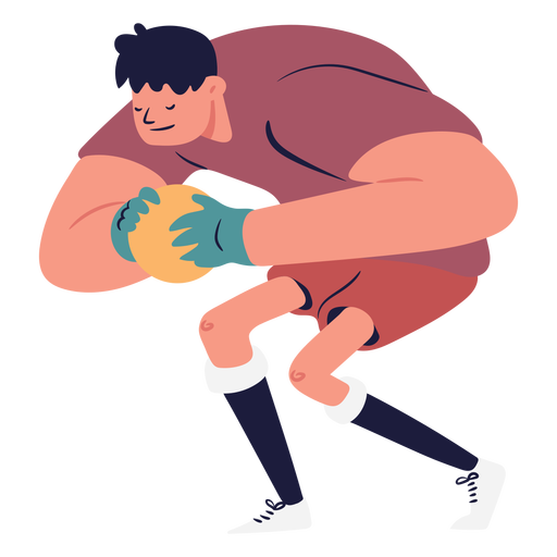 Caught ball goalkeeper illustration character Transparent PNG