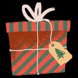 Ilustração de caixa de presente de Natal