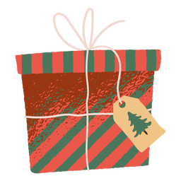 Ilustración de caja de regalo de navidad
