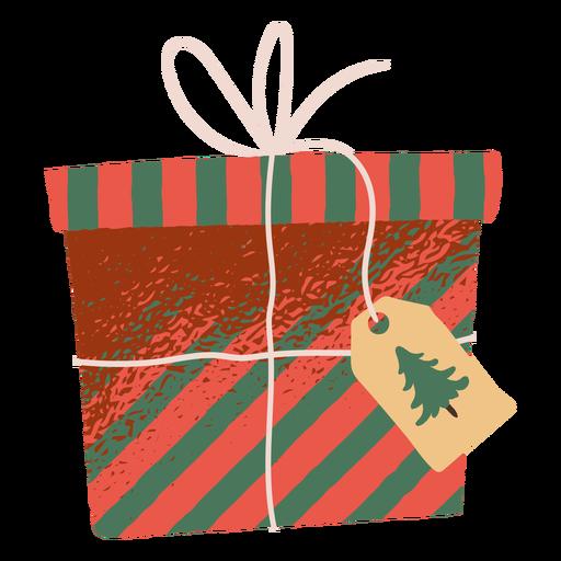Christmas gift box illustration Transparent PNG
