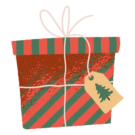 Christmas gift box illustration