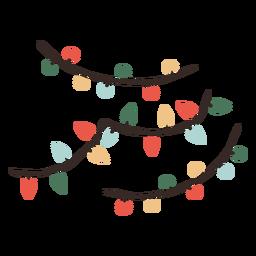 Ilustración de decoración de luces de Navidad