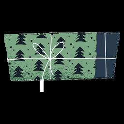 Christmas tree gift envelope illustration
