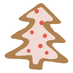 Christmas tree gingerbread cookie