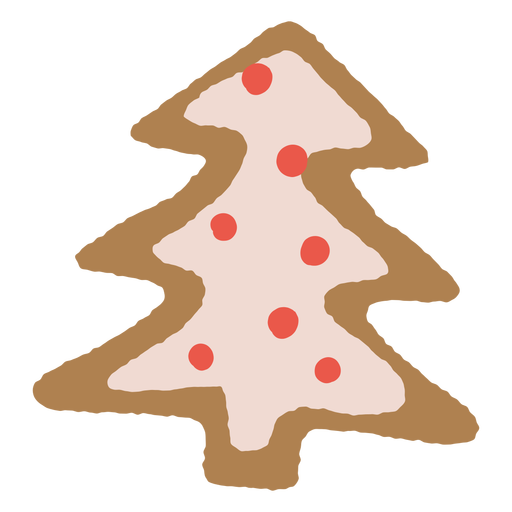 Christmas tree gingerbread cookie Transparent PNG