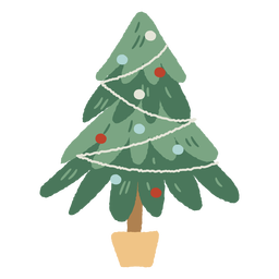 Christmas tree pot indoor decoration