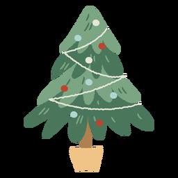 Decoración interior de maceta de árbol de Navidad