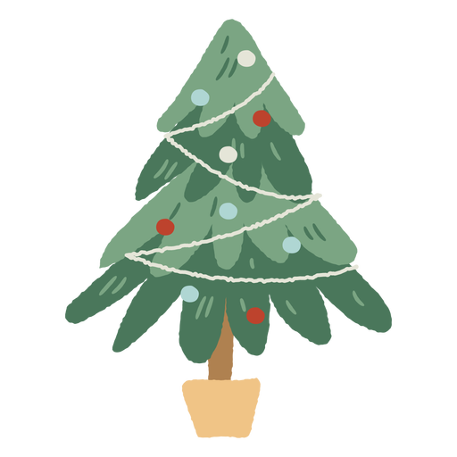 Christmas tree pot indoor decoration Transparent PNG