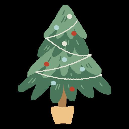 Decoração de interiores de vaso de árvore de natal