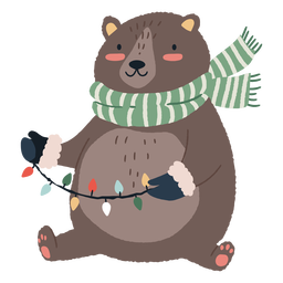 Christmas bear cute illustration