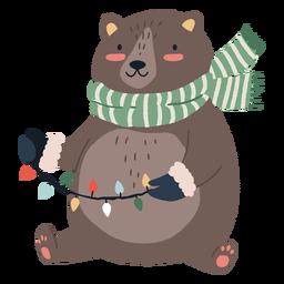 Ilustração fofa do urso de natal