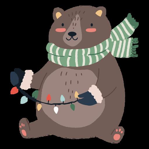 Ilustración linda del oso de navidad Transparent PNG