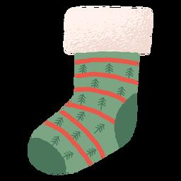 Calcetín de navidad colorido santa