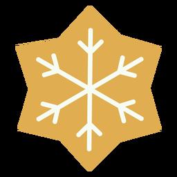 Galleta de Navidad copo de nieve plana